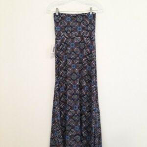 NWT Lularoe Geo Print Maxi Skirt XXS/D0